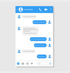 social network messenger page template vector image
