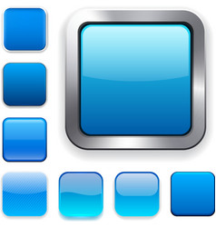 Square blue app icons vector image