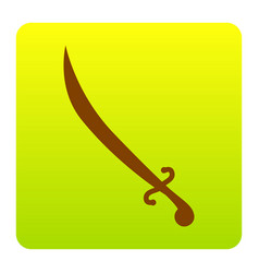 sword sign brown icon at vector image