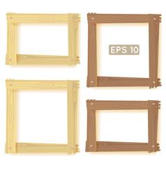 Wooden frames set picture vector image vector image