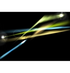 Abstract glowing shiny lights background vector image vector image