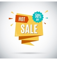 Advertising banner Hot sale 50 percent off vector image vector image