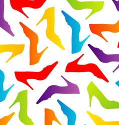 Background with colorful shoes vector image vector image
