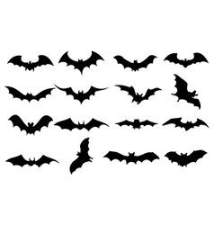 Bats icons set vector image vector image