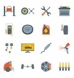 cartoon car service symbol color icons set vector image vector image