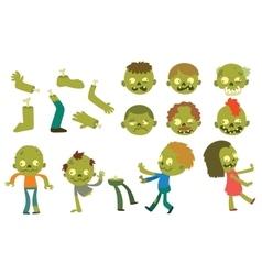 Cartoon zombie characters vector image vector image