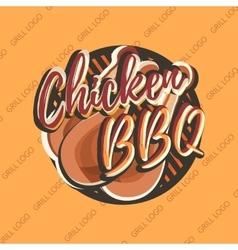 Creative logo design with chicken legs vector image
