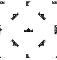 royal crown pattern seamless black vector image