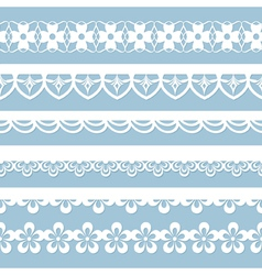 set of seamless laces vector image vector image