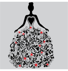 silhouette of elegant dress vector image