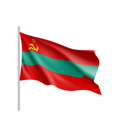 transnistria national flag vector image vector image