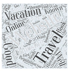 Choosing an Online Travel Website to Book Your vector image vector image