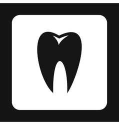 Healthy tooth icon simple style vector image