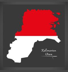 kalimantan utara indonesia map with indonesian vector image vector image