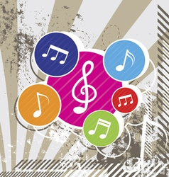 music festival on grunge vector image vector image
