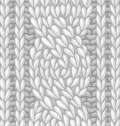 Seamless six-stitch cable stitch vector image