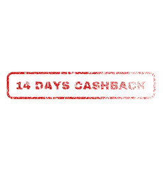14 days cashback rubber stamp vector