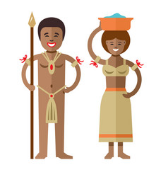 African aborigines flat style colorful vector