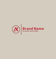 Ak initial letter logo - logo vector