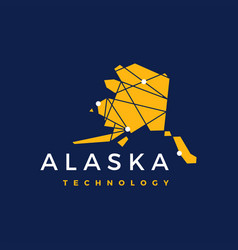 alaska technology connection geometric low poly vector image
