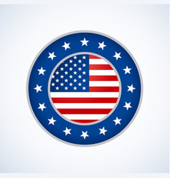 American flag badge design vector