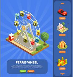 amusement park composition vector image