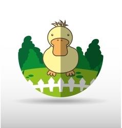 Animal farm design vector