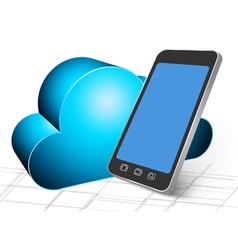 Backup to cloud vector image vector image