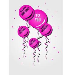 Balloons and happy birthday vector