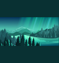 beautiful view with forest vector image