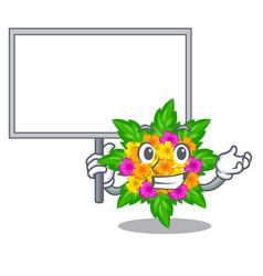 Bring board lantana flowers in the mascot pots vector