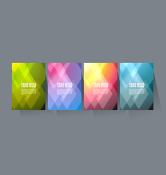 brochure cover design with pattern geometric vector image