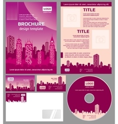 Business brochure architecture design vector