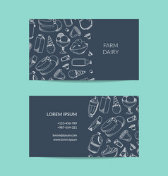 business card template for dairy shop or vector image vector image