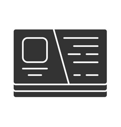 Business card visiting cutaway glyph icon vector
