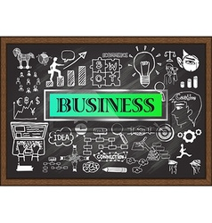 Business on chalkboard vector image