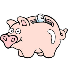 cartoon of a of a piggy bank vector image