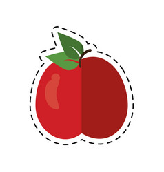 Cartoon tasty apple natural food vector