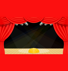cartoon theater theater curtain beams of vector image vector image