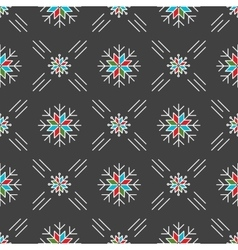 Christmas seamless pattern snowflakes Gray vector image