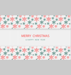 christmas snowflakes pattern on white wooden vector image