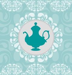 Coffeepot vignette vector