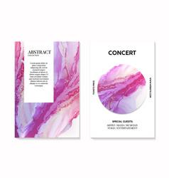 Contrast violet art with liquid flow in purple vector