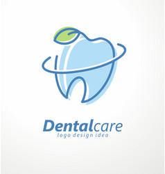 Dental clinic logo design idea vector