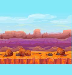 desert canyon landscape vector image