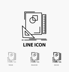 Design layout page sketch sketching icon in thin vector