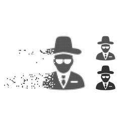 Dispersed pixel halftone agent icon vector