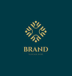 elegant ornament logo design template vector image