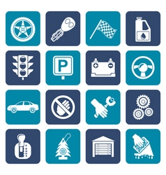 Flat Car and transportation icons vector image