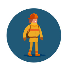 Flat icon a office firefighter vector